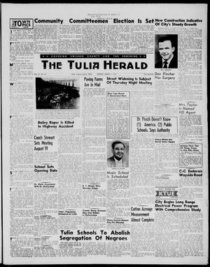 Primary view of object titled 'The Tulia Herald (Tulia, Tex), Vol. 49, No. 32, Ed. 1, Thursday, August 11, 1955'.