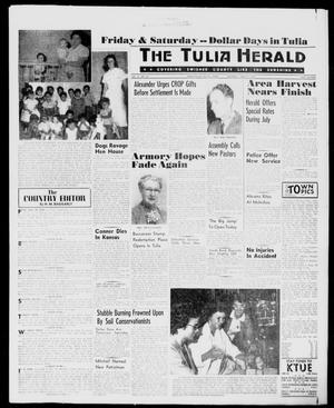 Primary view of object titled 'The Tulia Herald (Tulia, Tex), Vol. 51, No. 26, Ed. 1, Thursday, June 30, 1960'.