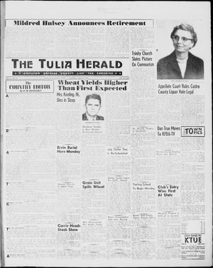 Primary view of object titled 'The Tulia Herald (Tulia, Tex), Vol. 51, No. 25, Ed. 1, Thursday, June 23, 1960'.