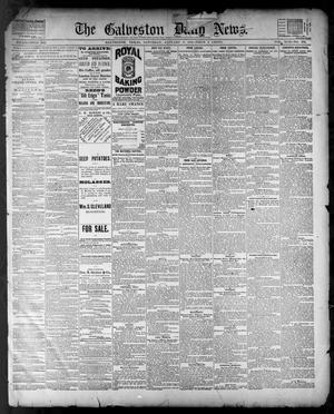 Primary view of The Galveston Daily News. (Galveston, Tex.), Vol. 42, No. 289, Ed. 1 Saturday, January 5, 1884