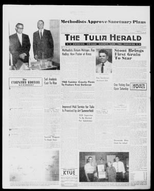 Primary view of object titled 'The Tulia Herald (Tulia, Tex), Vol. 51, No. 22, Ed. 1, Thursday, June 2, 1960'.