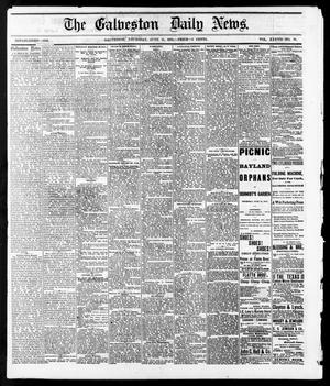 Primary view of object titled 'The Galveston Daily News. (Galveston, Tex.), Vol. 37, No. 70, Ed. 1 Thursday, June 13, 1878'.