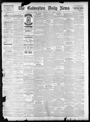 Primary view of object titled 'The Galveston Daily News. (Galveston, Tex.), Vol. 42, No. 200, Ed. 1 Monday, October 8, 1883'.
