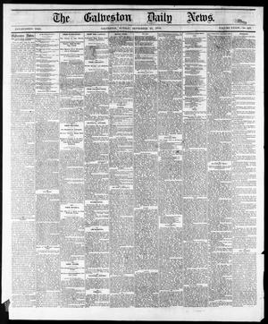 Primary view of object titled 'The Galveston Daily News. (Galveston, Tex.), Vol. 34, No. 227, Ed. 1 Sunday, September 27, 1874'.