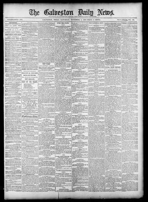 Primary view of object titled 'The Galveston Daily News. (Galveston, Tex.), Vol. 39, No. 196, Ed. 1 Saturday, November 6, 1880'.
