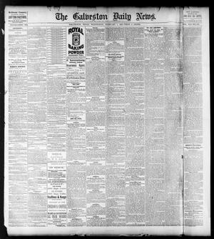 Primary view of object titled 'The Galveston Daily News. (Galveston, Tex.), Vol. 41, No. 276, Ed. 1 Wednesday, February 7, 1883'.