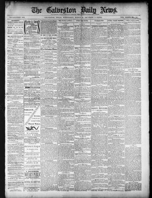 Primary view of object titled 'The Galveston Daily News. (Galveston, Tex.), Vol. 39, No. 307, Ed. 1 Wednesday, March 16, 1881'.