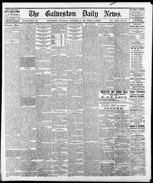 Primary view of object titled 'The Galveston Daily News. (Galveston, Tex.), Vol. 35, No. 210, Ed. 1 Thursday, November 23, 1876'.