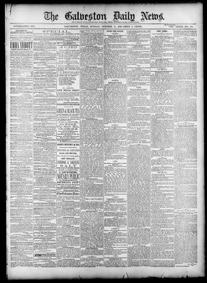 Primary view of object titled 'The Galveston Daily News. (Galveston, Tex.), Vol. 39, No. 179, Ed. 1 Sunday, October 17, 1880'.