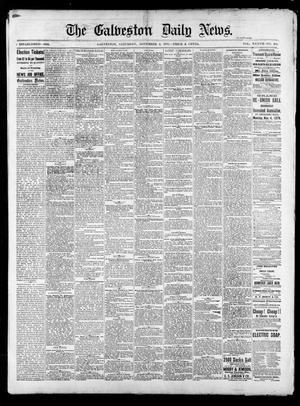 Primary view of object titled 'The Galveston Daily News. (Galveston, Tex.), Vol. 37, No. 192, Ed. 1 Saturday, November 2, 1878'.