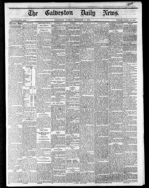 Primary view of object titled 'The Galveston Daily News. (Galveston, Tex.), Vol. 34, No. 210, Ed. 1 Tuesday, September 8, 1874'.