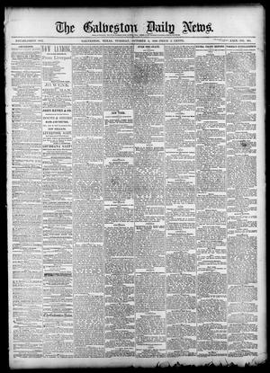 Primary view of object titled 'The Galveston Daily News. (Galveston, Tex.), Vol. 39, No. 168, Ed. 1 Tuesday, October 5, 1880'.
