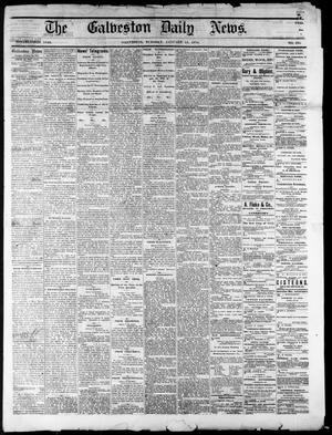 Primary view of object titled 'The Galveston Daily News. (Galveston, Tex.), No. 394, Ed. 1 Tuesday, January 13, 1874'.