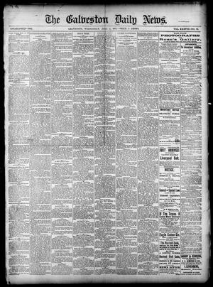 Primary view of object titled 'The Galveston Daily News. (Galveston, Tex.), Vol. 38, No. 86, Ed. 1 Wednesday, July 2, 1879'.