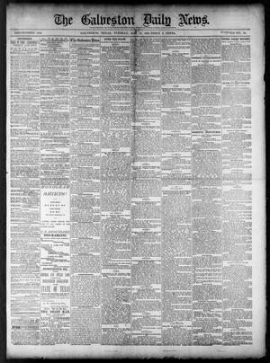 Primary view of object titled 'The Galveston Daily News. (Galveston, Tex.), Vol. 40, No. 59, Ed. 1 Tuesday, May 31, 1881'.