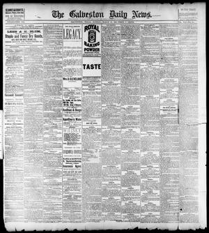 Primary view of object titled 'The Galveston Daily News. (Galveston, Tex.), Vol. 41, No. 310, Ed. 1 Sunday, March 18, 1883'.