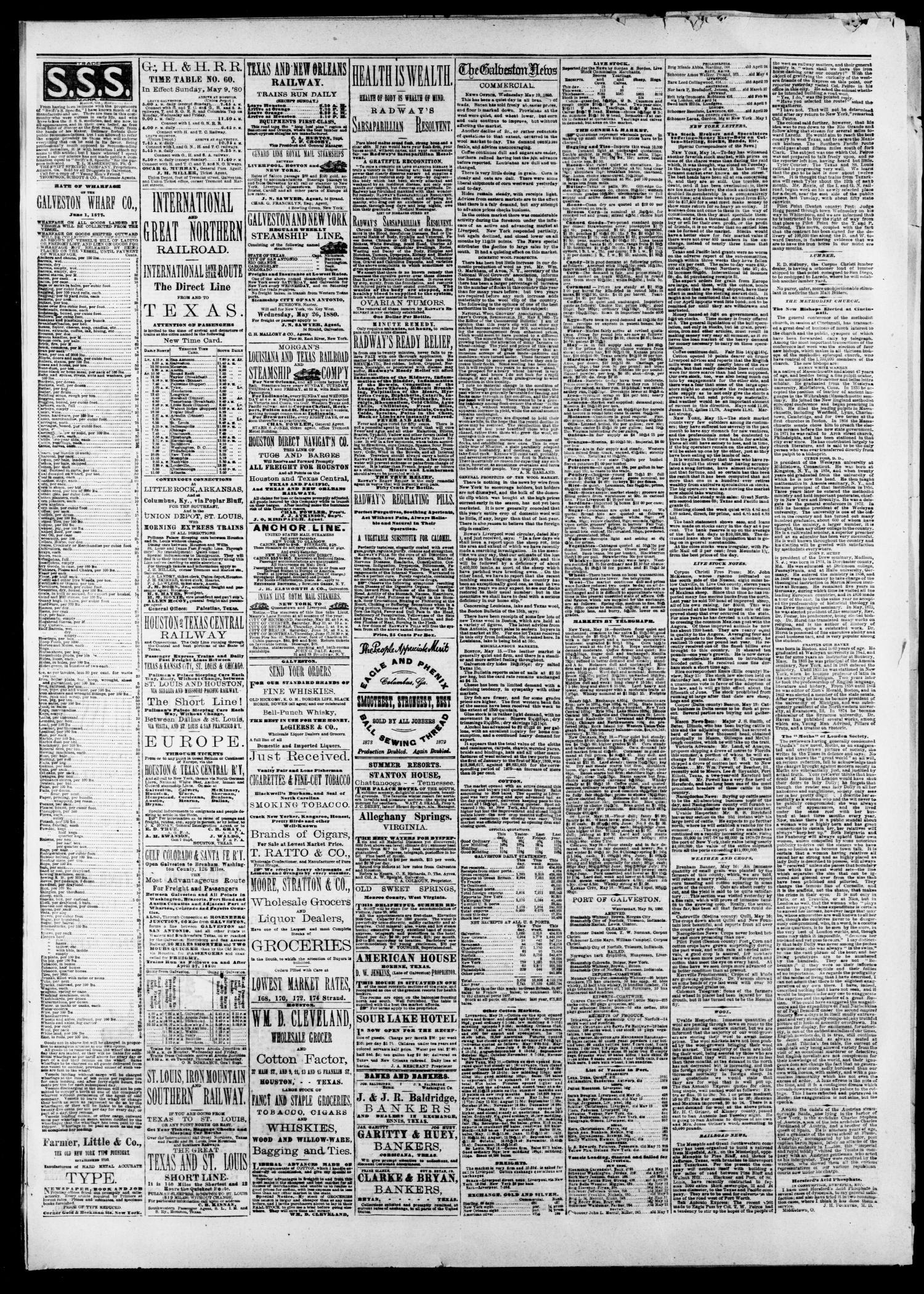 54217d7c997c7 The Galveston Daily News. (Galveston, Tex.), Vol. 39, No. 50, Ed. 1  Thursday, May 20, 1880 - Page 3 of 4 - The Portal to Texas History