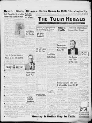 Primary view of object titled 'The Tulia Herald (Tulia, Tex), Vol. 51, No. 1, Ed. 1, Thursday, January 7, 1960'.