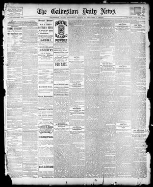 Primary view of object titled 'The Galveston Daily News. (Galveston, Tex.), Vol. 42, No. 161, Ed. 1 Thursday, August 30, 1883'.