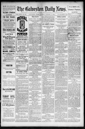 Primary view of The Galveston Daily News. (Galveston, Tex.), Vol. 43, No. 167, Ed. 1 Tuesday, October 7, 1884