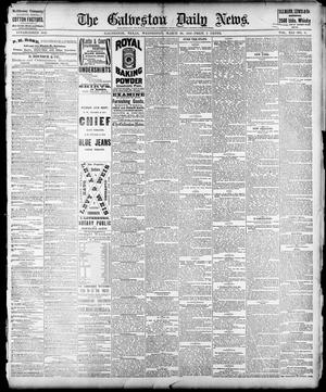Primary view of object titled 'The Galveston Daily News. (Galveston, Tex.), Vol. 41, No. 6, Ed. 1 Wednesday, March 29, 1882'.