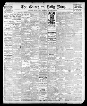 Primary view of object titled 'The Galveston Daily News. (Galveston, Tex.), Vol. 41, No. 190, Ed. 1 Sunday, October 29, 1882'.