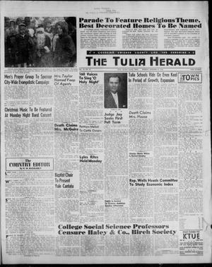 Primary view of object titled 'The Tulia Herald (Tulia, Tex), Vol. 53, No. 50, Ed. 1, Thursday, December 14, 1961'.
