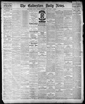 Primary view of object titled 'The Galveston Daily News. (Galveston, Tex.), Vol. 41, No. 250, Ed. 1 Sunday, January 7, 1883'.