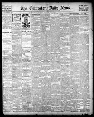 Primary view of object titled 'The Galveston Daily News. (Galveston, Tex.), Vol. 40, No. 200, Ed. 1 Friday, November 11, 1881'.