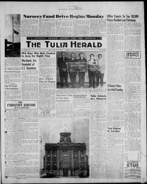 Primary view of object titled 'The Tulia Herald (Tulia, Tex), Vol. 53, No. 47, Ed. 1, Thursday, November 23, 1961'.