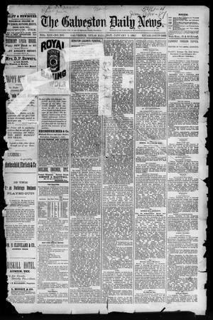 Primary view of object titled 'The Galveston Daily News. (Galveston, Tex.), Vol. 45, No. 250, Ed. 1 Saturday, January 1, 1887'.
