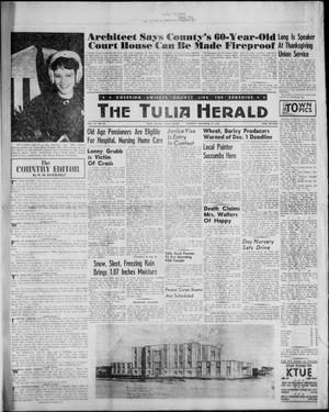 Primary view of object titled 'The Tulia Herald (Tulia, Tex), Vol. 53, No. 46, Ed. 1, Thursday, November 16, 1961'.
