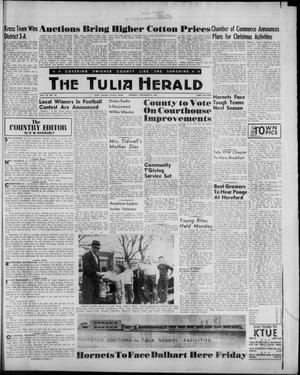 Primary view of object titled 'The Tulia Herald (Tulia, Tex), Vol. 53, No. 44, Ed. 1, Thursday, November 9, 1961'.