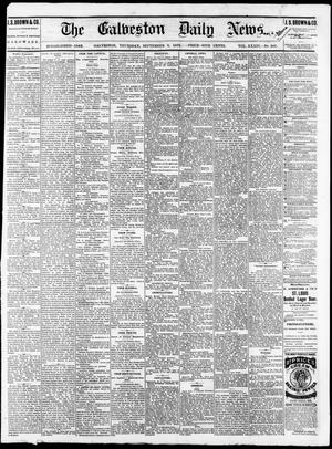 Primary view of object titled 'The Galveston Daily News. (Galveston, Tex.), Vol. 34, No. 207, Ed. 1 Thursday, September 9, 1875'.