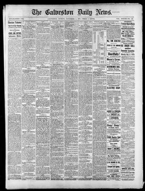Primary view of object titled 'The Galveston Daily News. (Galveston, Tex.), Vol. 37, No. 193, Ed. 1 Sunday, November 3, 1878'.