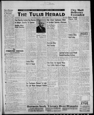 Primary view of object titled 'The Tulia Herald (Tulia, Tex), Vol. 53, No. 42, Ed. 1, Thursday, October 19, 1961'.