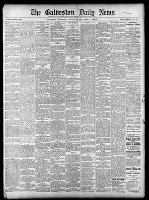 Primary view of object titled 'The Galveston Daily News. (Galveston, Tex.), Vol. 38, No. 129, Ed. 1 Thursday, August 21, 1879'.