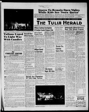 Primary view of object titled 'The Tulia Herald (Tulia, Tex), Vol. 54, No. 51, Ed. 1, Thursday, December 20, 1962'.
