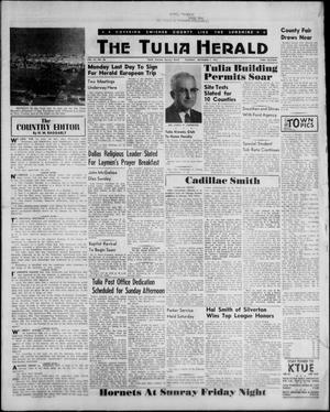 Primary view of object titled 'The Tulia Herald (Tulia, Tex), Vol. 53, No. 36, Ed. 1, Thursday, September 7, 1961'.