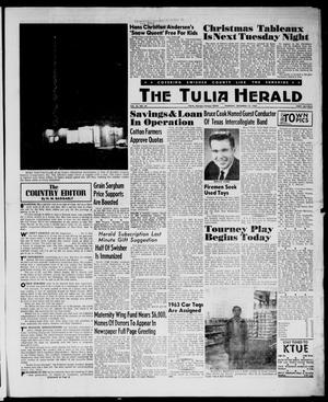 Primary view of object titled 'The Tulia Herald (Tulia, Tex), Vol. 54, No. 50, Ed. 1, Thursday, December 13, 1962'.