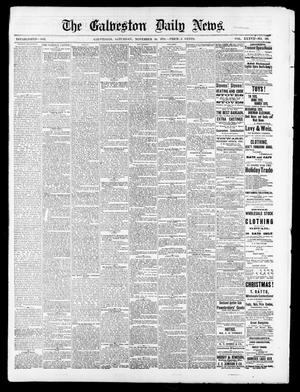 Primary view of object titled 'The Galveston Daily News. (Galveston, Tex.), Vol. 37, No. 216, Ed. 1 Saturday, November 30, 1878'.