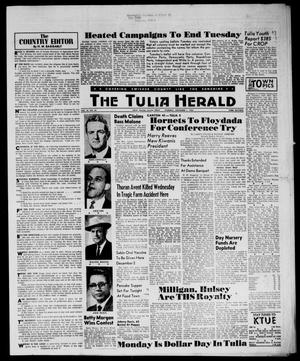 Primary view of object titled 'The Tulia Herald (Tulia, Tex), Vol. 54, No. 44, Ed. 1, Thursday, November 1, 1962'.