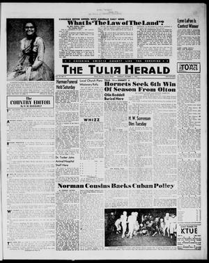 Primary view of object titled 'The Tulia Herald (Tulia, Tex), Vol. 54, No. 41, Ed. 1, Thursday, October 11, 1962'.