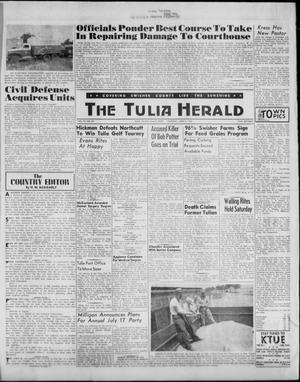 Primary view of object titled 'The Tulia Herald (Tulia, Tex), Vol. 52, No. 23, Ed. 1, Thursday, June 8, 1961'.