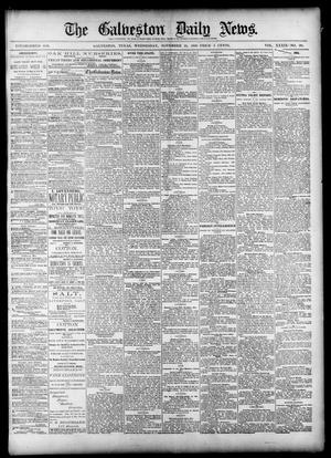Primary view of object titled 'The Galveston Daily News. (Galveston, Tex.), Vol. 39, No. 211, Ed. 1 Wednesday, November 24, 1880'.
