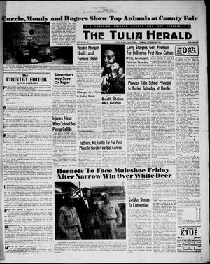 Primary view of object titled 'The Tulia Herald (Tulia, Tex), Vol. 54, No. 38, Ed. 1, Thursday, September 20, 1962'.