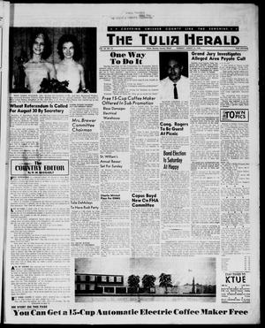 Primary view of object titled 'The Tulia Herald (Tulia, Tex), Vol. 54, No. 33, Ed. 1, Thursday, August 16, 1962'.