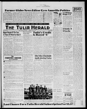 Primary view of object titled 'The Tulia Herald (Tulia, Tex), Vol. 54, No. 30, Ed. 1, Thursday, July 26, 1962'.
