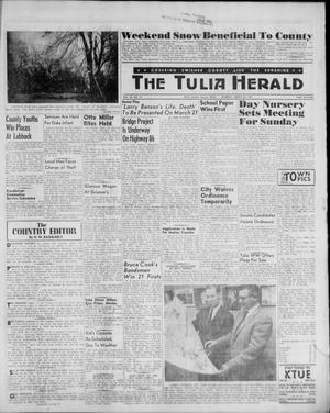 Primary view of object titled 'The Tulia Herald (Tulia, Tex), Vol. 52, No. 12, Ed. 1, Thursday, March 23, 1961'.