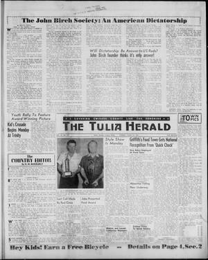 Primary view of object titled 'The Tulia Herald (Tulia, Tex), Vol. 52, No. 11, Ed. 1, Thursday, March 16, 1961'.